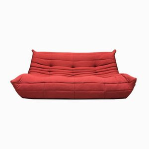 Rotes 3-Sitzer Togo Sofa von M. Ducaroy für Ligne Roset