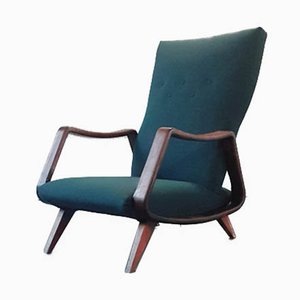 Mid-Century Lounge Chair and Stool by A. A. Patijn for Poly-Z Joure, 1950s, Set of 2