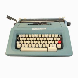 Vintage Studio 46 Typewriter with Spanish Keyboard from Olivetti