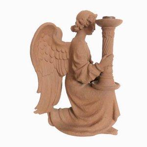 Großer Keramik Kerzenständer von Heinze für Karlsruher Majolika