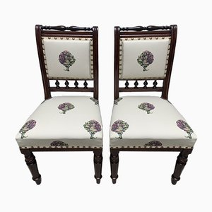 19th Century Chairs with Artichoke Upholstery