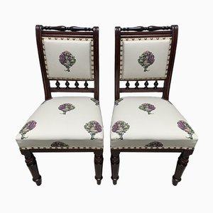 Stühle mit Artischocken Bezug, 19. Jh