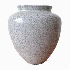 Craquelé Keramikvase von Friedgart Glatzle für Karlsruhe Majolika