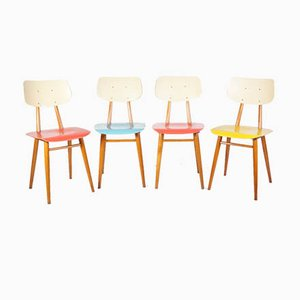 Mid-Century Dining Chairs from TON, Set of 4, 1960s