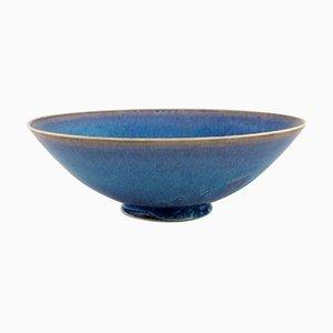 Ceramic Bowl on a Base by Sven Wejsfelt for Gustavsberg Studiohand, 1991