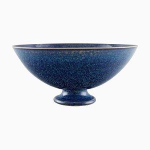 Bowl on a Base in Ceramics by Sven Wejsfelt for Gustavsberg Studiohand