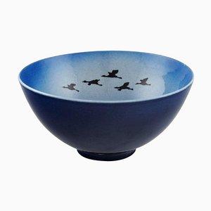 Bowl with Birds by Sven Wejsfelt for Gustavsberg Studiohand