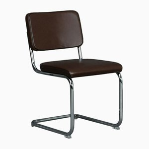 S32 PV Cantilever Brown Leather Chair from Thonet
