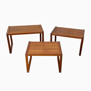 Danish Teak Nesting Tables from Vi-Ma Mobler, 1960s, Set of 3
