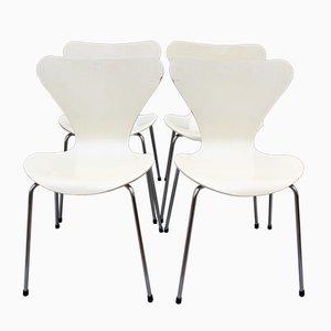Sedie impilabili della serie 7 di Arne Jacobsen per Fritz Hansen, 1973, set di 4