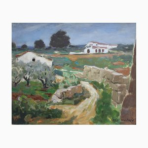 The Old Wall Javea von Lucien Martial, 1960er