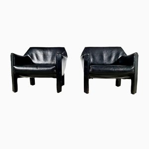 CAB 415 Lounge Chairs by Mario Bellini for Cassina, 1970s, Set of 2