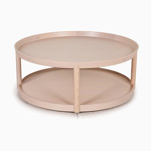 Beige Round Coffee Table