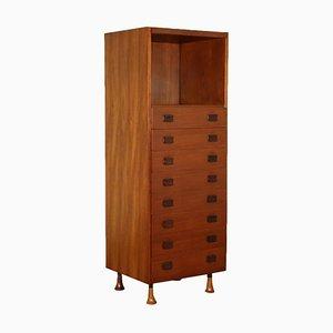 Teak Veneer Cabinet, Italy, 1960s