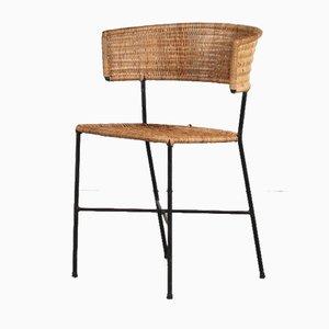 Beistellstuhl im Stil von Aubock, Österreich, 1950er