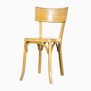 French Baumann Blonde Beech Bentwood Dining Chair, 1950s