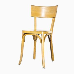 French Baumann Blonde Beech Bentwood Dining Chairs, 1950s, Set of 6