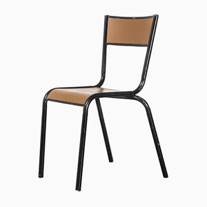 French Mullca Vintage Model 510 Stacking Dining Chairs, 1950s, Set of 4