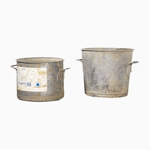 French Galvanised Tubs, 1950s, Set of 2