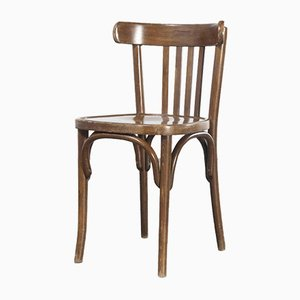 French Dark Oak Bentwood Dining Chair, 1970s