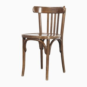 French Dark Oak Bentwood Dining Chairs, 1970s, Set of 6