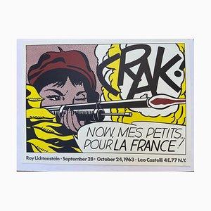 Póster de la exposición de Crak !, Roy Lichtenstein, 1963