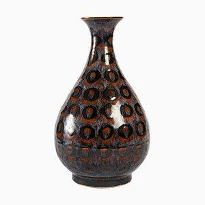 Enamelled Stoneware Vase