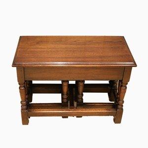 Solid Oak Nest of Tables, Set of 3