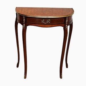 Französischer Demi Lune Tisch aus Mahagoni