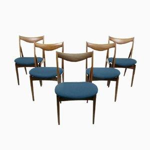Skulpturelle Esszimmerstühle von Kurt Ostervig für Bramin, 1960er, 5er Set