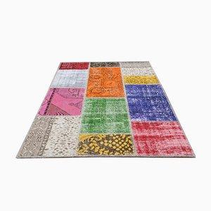 Patchwork türkischer Vintage Teppich