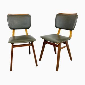 Dining Room Chairs with Green Ski Leather