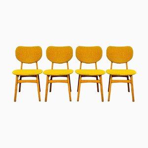 Esszimmerstühle Set in Ockergelb, 4er Set