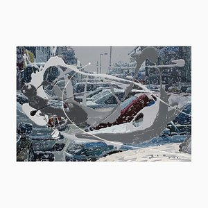 Chinese Contemporary Art von Zhao De-Wei, Urban Landscape Series, Parking Lot, 2015