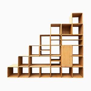 Modular Wooden Wall Unit by Derk Jan De Vries, 1980s