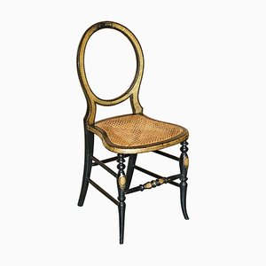 Ebonised Gold Leaf Painted Regency Chair from Jennens & Bettridge, 1815