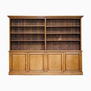 Large Antique Victorian Oak Library Bookcase