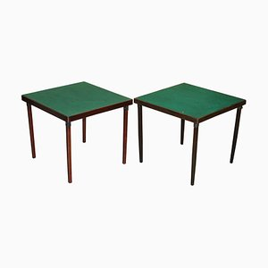 Tavoli da gioco pieghevoli vintage, anni '20, set di 2