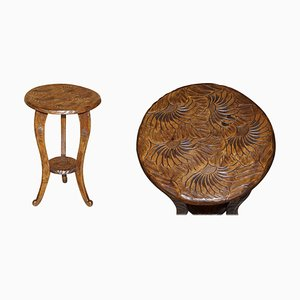 Libertys London Hand Carved Side Table, 1905