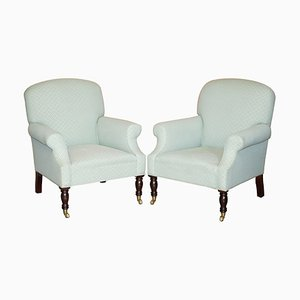 Armchairs in Beech Wood by George Smith Dahl, Set of 2