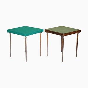 Tables Pliantes de Jeux de Cartes Vono, 1940s, Set de 2
