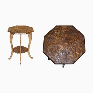 Libertys London Hand Carved Occasional Side Table, 1905