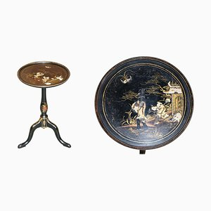 Late Victorian Ebonised and Lacquered Antique Side Table