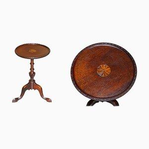 Antique Hardwood Tripod Side Table