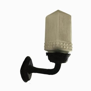 Art Deco Bronze Wandlampe