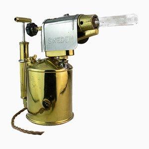 Schwedische Lötlampe Tischlampe