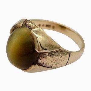 Vintage Tigerauge Ring