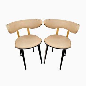 Cremefarbene Stühle von Umberto Mascagni für Harrods, 1950er, 2er Set