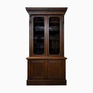 Tall Victorian Oak Bookcase