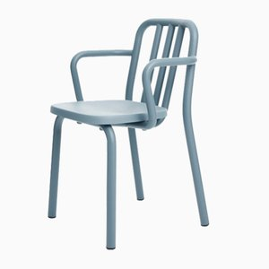 Blue-Grey Tube Armchair by Eugeni Quitllet for Mobles 114
